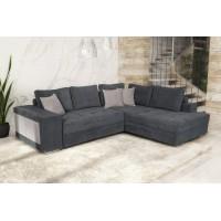 Karina Γωνιακός καναπές κρεβάτι με αποθηκευτικό χώρο & 2 σκαμπό 278x218εκ. MS07 Γκρι Δεξιά Γωνία