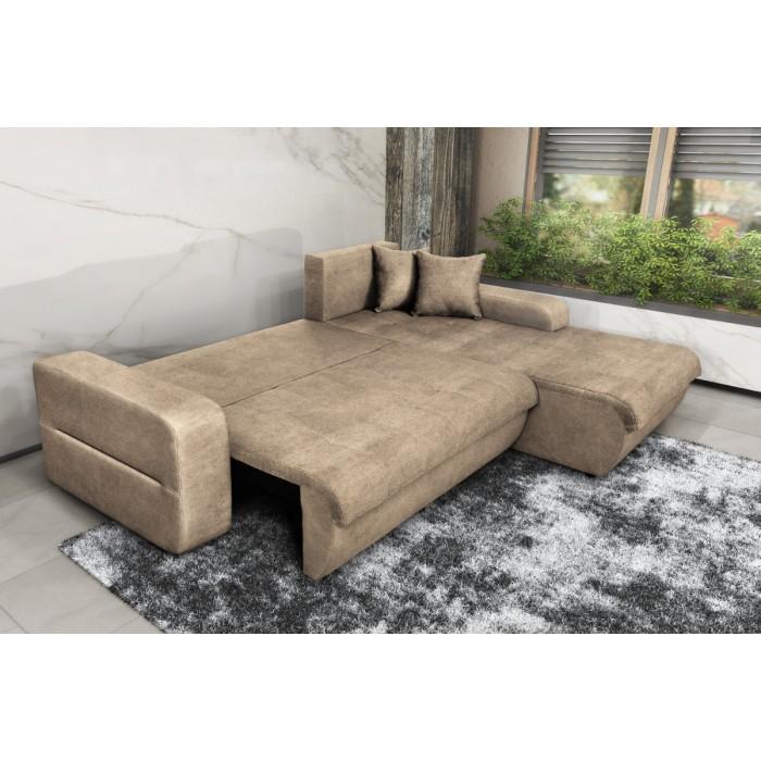 Γωνιακός καναπές κρεβάτι με αποθηκευτικό χώρο 246x190εκ. MS08 VIRGINIA Μπεζ Δεξιά Γωνία ΓΩΝΙΑΚΟΙ ΚΑΝΑΠΕΔΕΣ, επιπλα - insidehome.gr
