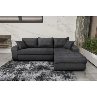 Γωνιακός καναπές κρεβάτι με αποθηκευτικό χώρο 246x190εκ. MS08 VIRGINIA Γκρι Δεξιά Γωνία