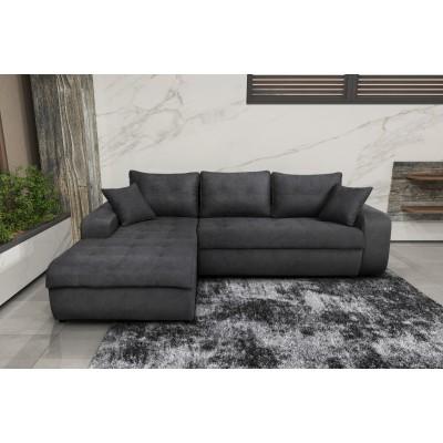 Γωνιακός καναπές κρεβάτι με αποθηκευτικό χώρο 246x190εκ. MS08 VIRGINIA Γκρι Αριστερή Γωνία