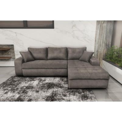 Γωνιακός καναπές κρεβάτι με αποθηκευτικό χώρο 246x190εκ. MS08 VIRGINIA Elephant Δεξιά Γωνία