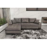 Γωνιακός καναπές κρεβάτι με αποθηκευτικό χώρο 246x190εκ. MS08 VIRGINIA Elephant Αριστερή Γωνία
