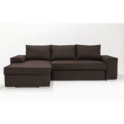 Καναπεδες με αποθηκευτικο χωρο - Γωνιακός καναπές κρεβάτι με αποθηκευτικό χώρο 271x163εκ. CORFU NV03 Καφέ Αριστερή Γωνία  ΓΩΝΙΑΚΟΙ ΚΑΝΑΠΕΔΕΣ, επιπλα - insidehome.gr