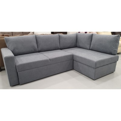 Milos Γωνιακός καναπές κρεβάτι με αποθηκευτικό χώρο 230x150εκ. Γκρι