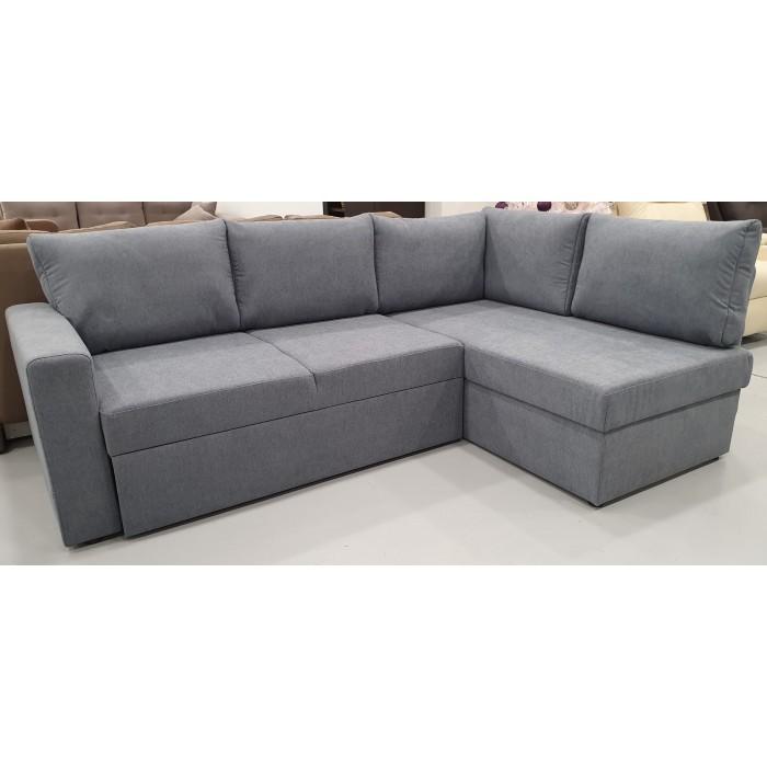Milos Γωνιακός καναπές κρεβάτι με αποθηκευτικό χώρο 230x150εκ. Γκρι  ΓΩΝΙΑΚΟΙ ΚΑΝΑΠΕΔΕΣ, insidehome.gr