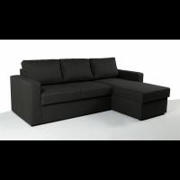 Γωνιακός καναπές κρεβάτι με αποθηκευτικό χώρο 222χ150εκ. SOFIA Γκρι Σκούρο NV02