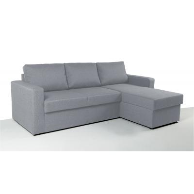 Γωνιακός καναπές κρεβάτι με αποθηκευτικό χώρο 222χ150εκ. SOFIA Γκρι ανοιχτό NV02