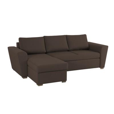 Stanford Γωνιακός καναπές κρεβάτι με αποθηκευτικό χώρο 242x160 Καφέ