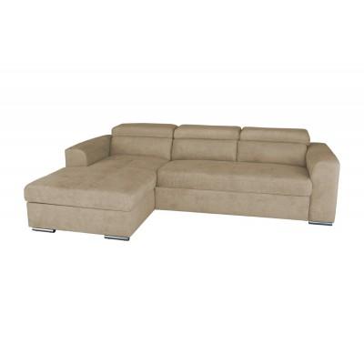 Γωνιακός καναπές κρεβάτι με αποθηκευτικό χώρο 260x170εκ. VENICE NV04 Μπεζ Αριστερή Γωνία