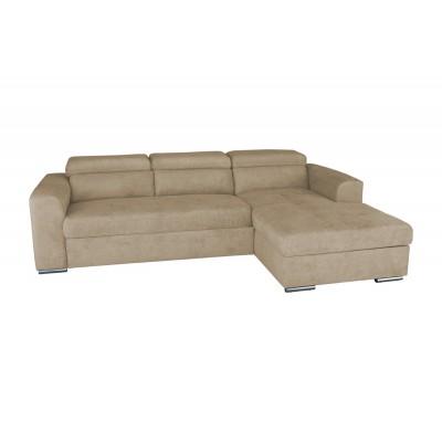 Γωνιακός καναπές κρεβάτι με αποθηκευτικό χώρο 260x170εκ. VENICE NV04 Μπεζ Δεξιά Γωνία