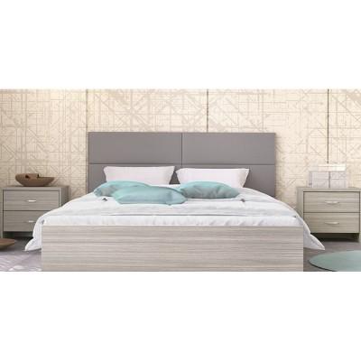 Κρεβάτι ξύλινο διπλό POL06 150χ200εκ. Olive