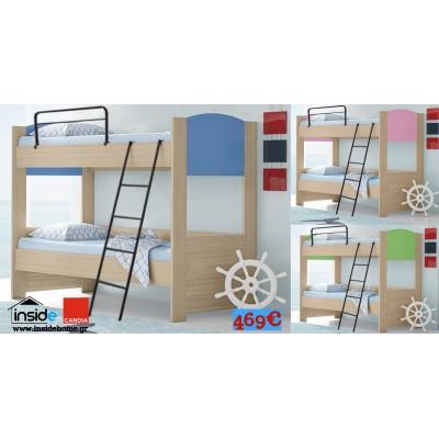 Κουκέτα ξύλινη παιδική 207x98x160εκ. POL04 & 2 στρώματα 90x200εκ. Perfect Candia ΚΟΥΚΕΤΕΣ , insidehome.gr