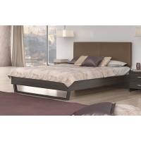 Κρεβάτι διπλό POL07 Βέγγε-Taupe 164x208εκ. ( για στρώμα 150x200εκ. )