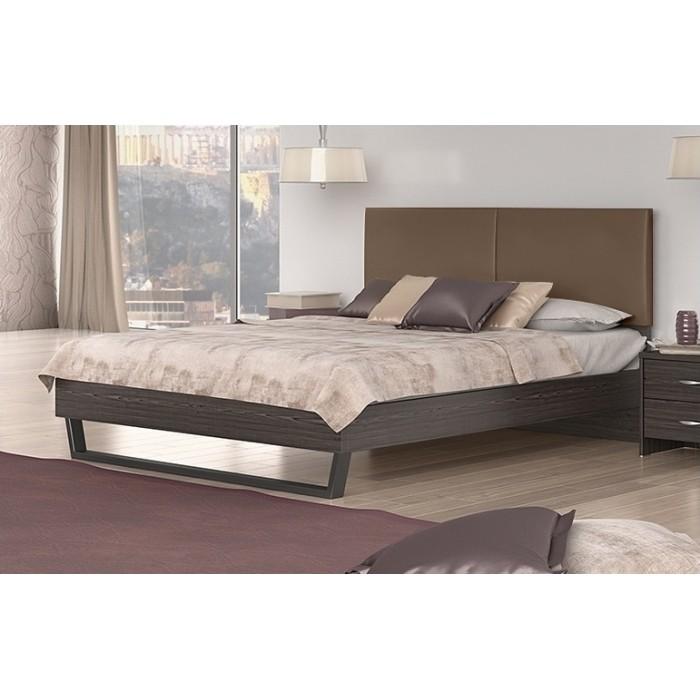 Κρεβάτι διπλό POL07 Βέγγε-Taupe 164x208εκ. ( για στρώμα 150x200εκ. )   ΞΥΛΙΝΑ ΚΡΕΒΑΤΙΑ, insidehome.gr