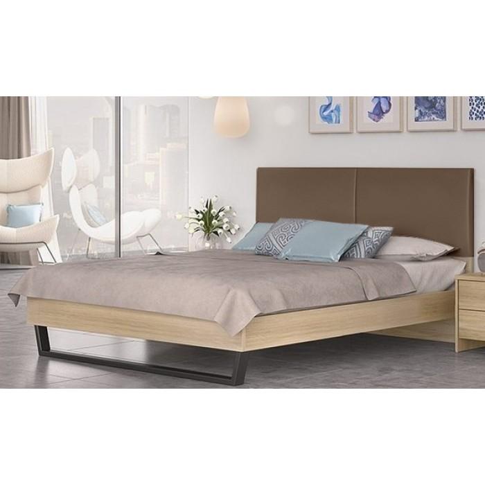 Κρεβάτι διπλό POL07 Λάττε-Taupe 164x208εκ. ( για στρώμα 150x200εκ. )   ΞΥΛΙΝΑ ΚΡΕΒΑΤΙΑ, insidehome.gr