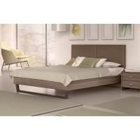 Κρεβάτι διπλό POL07 Μόκα-Taupe 174x208εκ. ( για στρώμα 160x200εκ. )