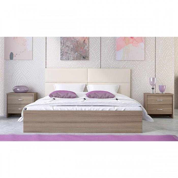 Κρεβάτι ξύλινο διπλό POL06 150χ200εκ. Μόκα ΞΥΛΙΝΑ ΚΡΕΒΑΤΙΑ, insidehome.gr