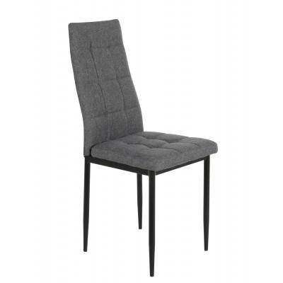 Καρέκλα μεταλλική 40χ48.5χ96εκ. Γκρί ύφασμα Μαύρα πόδια XS17