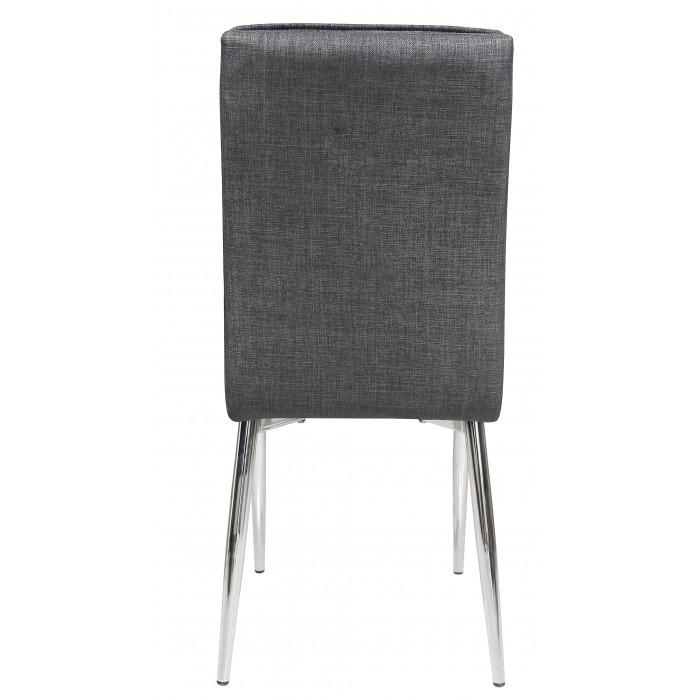 Καρέκλα μεταλλική με ύφασμα Γκρι & Πόδια Χρωμίου XS43CH ΜΕΤΑΛΛΙΚΕΣ, insidehome.gr