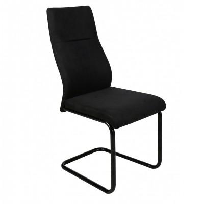 Καρέκλα μεταλλική επενδεδυμένη με αδιάβροχο ύφασμα XS84 Μαύρο
