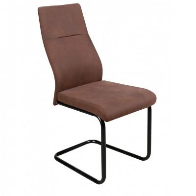 Καρέκλα μεταλλική επενδεδυμένη με αδιάβροχο ύφασμα XS84 Καφέ