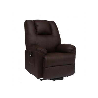Πολυθρονες Relax - Πολυθρονα Relax-Massage θερμαινόμενη με ηλεκτρική ανάκλιση  AR17 Καφέ RELAX MASSAGE, επιπλα - insidehome.gr