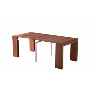 Τραπέζι ξύλινο επεκτεινόμενο ανοιγόμενο 45/100/150/200χ95εκ. Καρυδί XF74