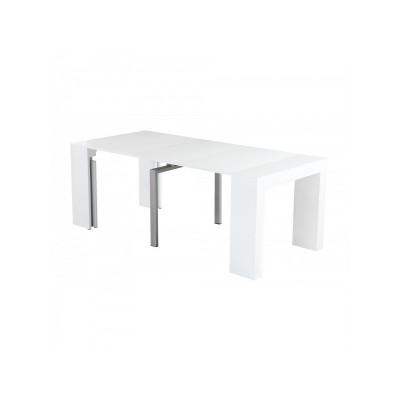 Τραπέζι ξύλινο επεκτεινόμενο ανοιγόμενο 45/100/150/200χ95εκ. Λευκό XF74