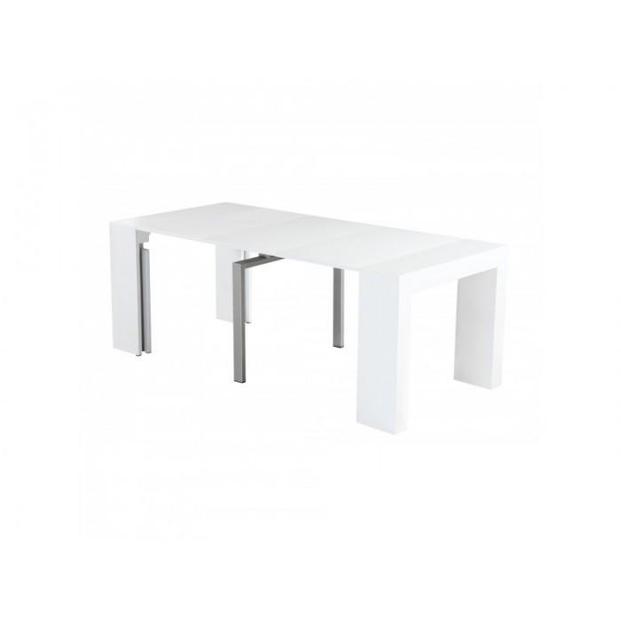 Τραπέζι ξύλινο επεκτεινόμενο ανοιγόμενο 45/100/150/200χ95εκ. Λευκό XF74 ΞΥΛΙΝΑ, επιπλα - insidehome.gr