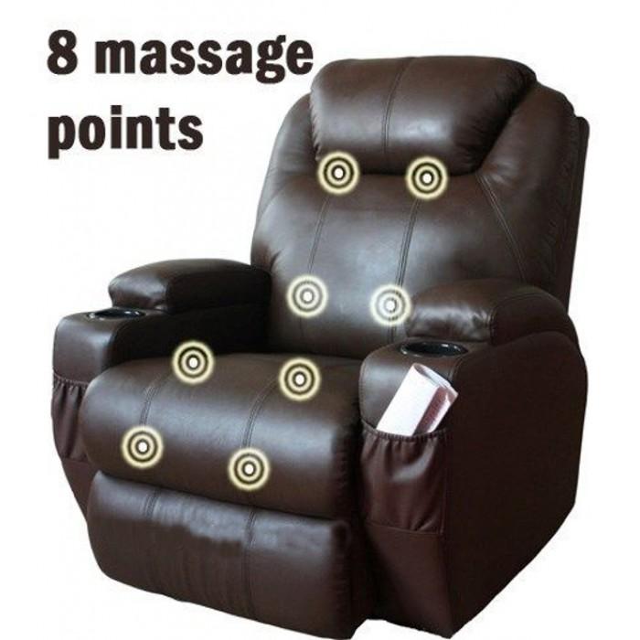 Πολυθρονες Relax - Πολυθρονα Relax-massage κουνιστή θερμαινόμενη με περιστροφή JOEY AR28 Καφέ RELAX MASSAGE, επιπλα - insidehome.gr