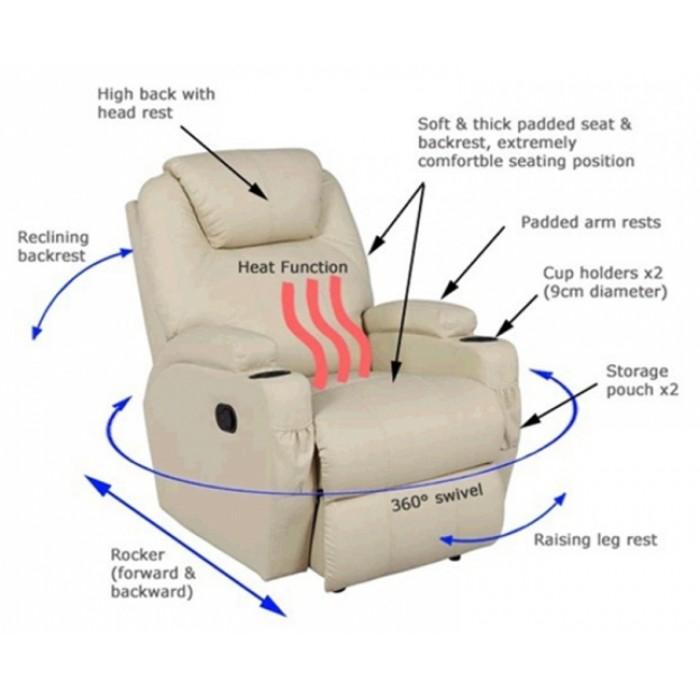 Πολυθρονες relax  - Πολυθρονες Relax - Πολυθρονα Relax-massage κουνιστή θερμαινόμενη με περιστροφή JOEY AR28 Μπεζ RELAX MASSAGE, επιπλα - insidehome.gr