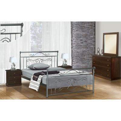 Μεταλλικό διπλό κρεβάτι N57