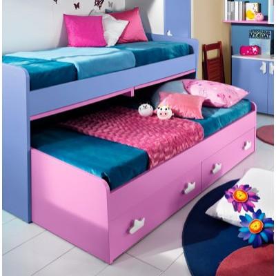 Κουκέτα με 2 μονά κρεβάτια