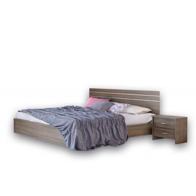 Κρεβάτι διπλό ξύλινο POL 01