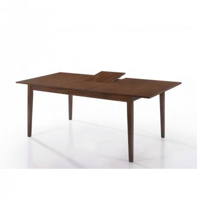 Τραπέζι ξύλινο επεκτεινόμενο 160(190)χ90εκ. LW53 Walnut