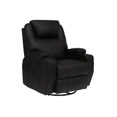 Πολυθρονες Relax - Πολυθρονα Relax-massage κουνιστή θερμαινόμενη με περιστροφή JOEY AR28 Μαύρο RELAX MASSAGE, επιπλα - insidehome.gr