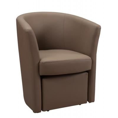 Πολυθρόνα με υποπόδιο 63,5X62,5εκ.  DJERBA IM13 Taupe PU