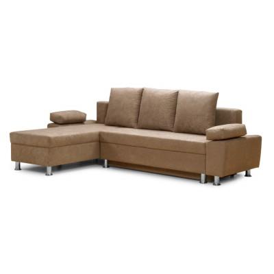 Γωνιακός καναπές κρεβάτι 240χ150εκ. με αποθηκευτικό χώρο PAOLO IM31 Μπεζ