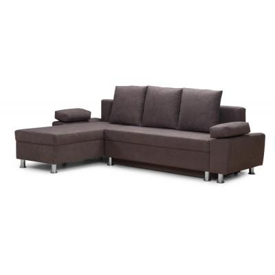Γωνιακός καναπές κρεβάτι 240χ150εκ. με αποθηκευτικό χώρο PAOLO IM31 Γκρί