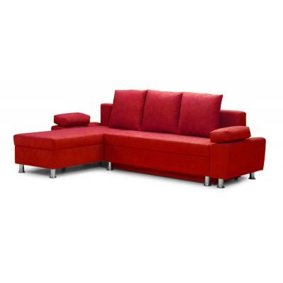 Γωνιακός καναπές κρεβάτι 240χ150εκ. με αποθηκευτικό χώρο PAOLO IM31 Κόκκινο