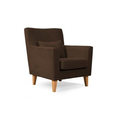 Πολυθρόνα καθιστικού 65χ75εκ. LOBBY καφέ