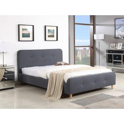 Ντυμένο διπλό κρεβάτι 150x200εκ. JN184 Γκρι-Μπλε