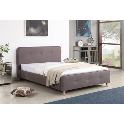 Ντυμένο διπλό κρεβάτι 150x200εκ. JN184 Γκρι