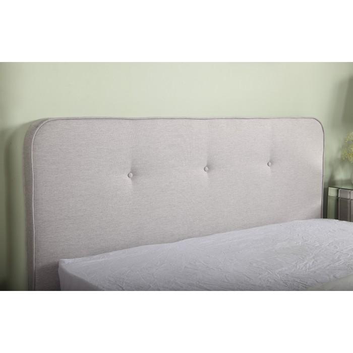 Ντυμένο διπλό κρεβάτι 150x200εκ. JN184 Γκρι Ανοιχτό ΝΤΥΜΕΝΑ ΚΡΕΒΑΤΙΑ, επιπλα - insidehome.gr