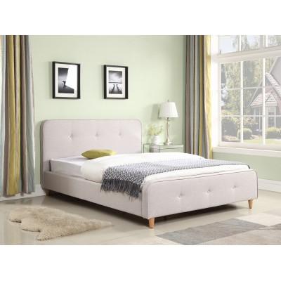 Ντυμένο διπλό κρεβάτι 150x200εκ. JN184 Γκρι Ανοιχτό