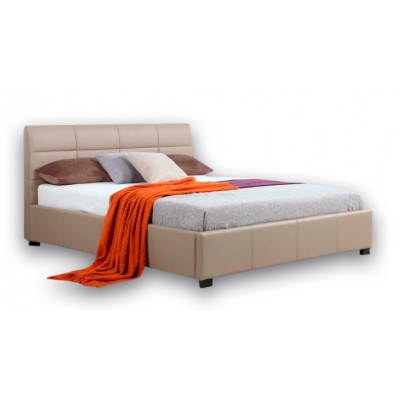 Ντυμένο κρεβάτι με αποθηκευτικό χώρο 160χ200εκ. JN018 Μόκα