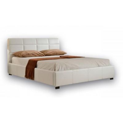 Ντυμένο κρεβάτι με αποθηκευτικό χώρο 150χ200εκ. JN018 Λευκό