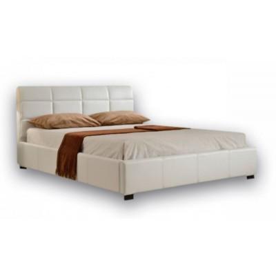 Ντυμένο κρεβάτι με αποθηκευτικό χώρο 160χ200εκ. JN018 Λευκό