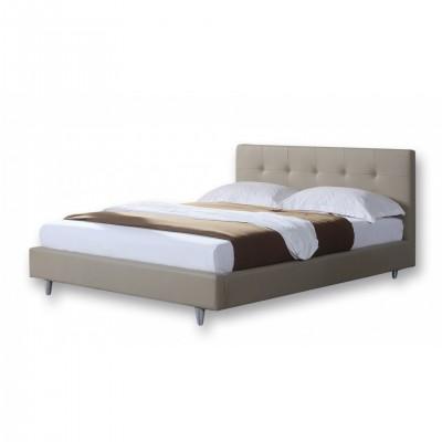 Ντυμένο διπλό κρεβάτι 150x200εκ. JN200 Μπεζ