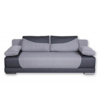 Καναπές κρεβάτι με αποθηκευτικό χώρο 200x95εκ.CAPRICE Γκρι ανοιχτό - Γκρι